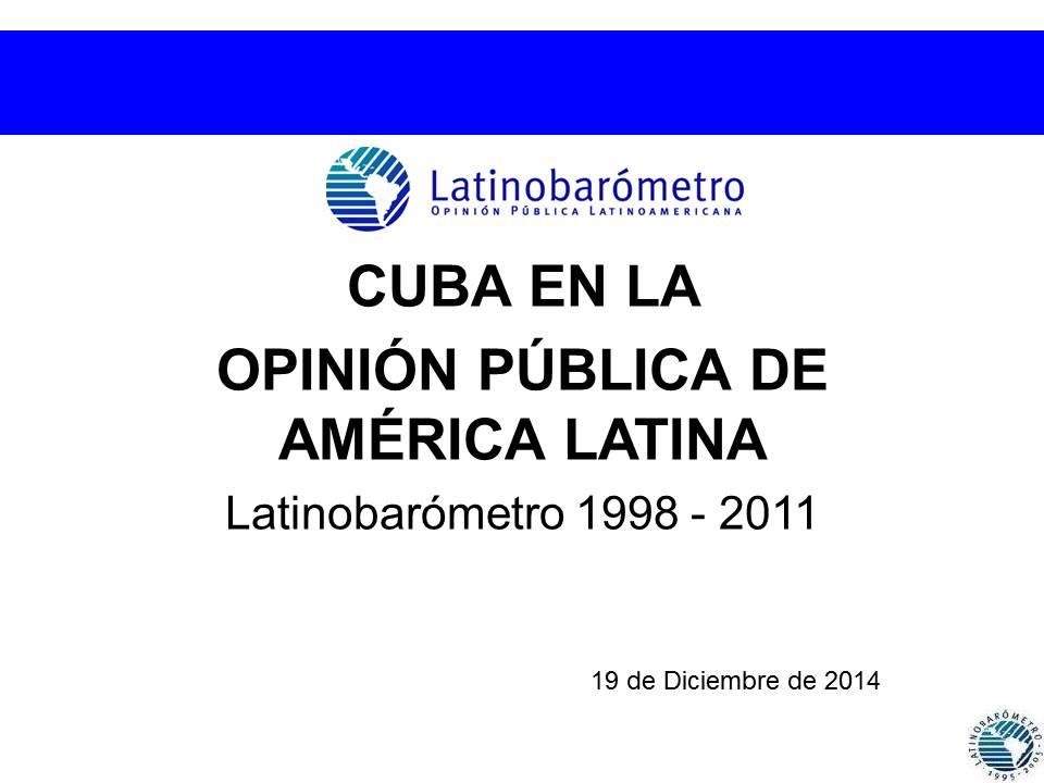 INFORME: CUBA EN LA OPINIÓN PÚBLICA DE  AMÉRICA LATINA